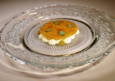 FUEGO DIVINO |Persimmon flesh & fennel with lemon verbena ice|