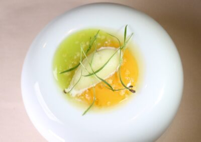 FUEGO DIVINO|Persimmon flesh & fennel with lemon verbena ice| - 1