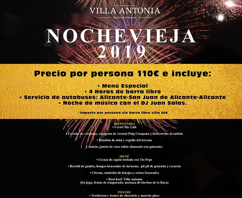 Cena y Fiesta de Nochevieja 2019